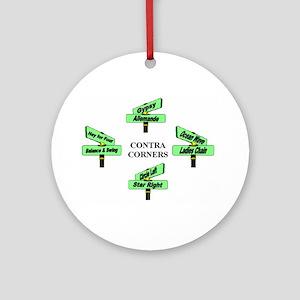 Contra Corners Ornament (Round)