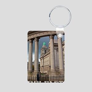 Belfast City Hall Aluminum Photo Keychain