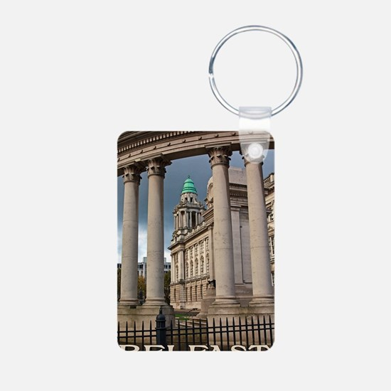 Belfast City Hall Aluminum Photo Keychain