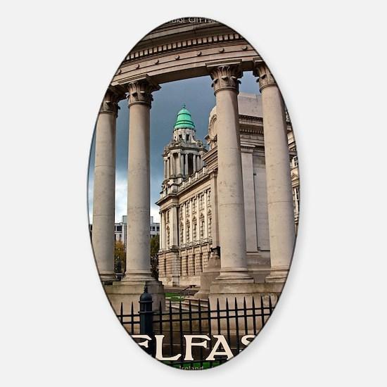 Belfast City Hall Sticker (Oval)