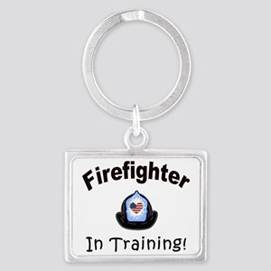 Firefighter In Training Landscape Keychain