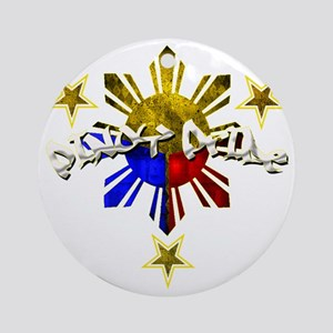pinoy pride Round Ornament