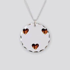 I Love A Firefighte... Necklace Circle Charm