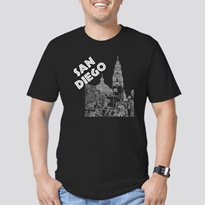 SanDiego_10x10_Califor Men's Fitted T-Shirt (dark)