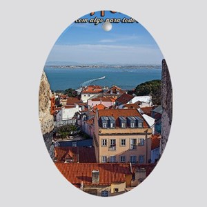 Lisbon Boat Oval Ornament