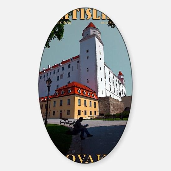 Bratislava Castle Sticker (Oval)