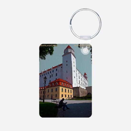 Bratislava Castle Aluminum Photo Keychain