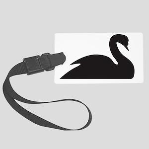 black swan icon Large Luggage Tag