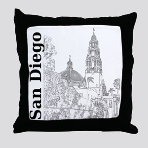 SanDiego_10x10_CaliforniaTower_SD_Ver Throw Pillow