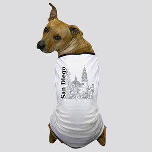 SanDiego_10x10_CaliforniaTower_SD_Vert Dog T-Shirt