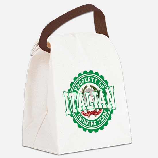 Property of Italian Drinking Team Canvas Lunch Bag