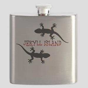 Jekyll Island Georgia Flask