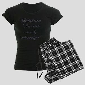 It is a truth universally ac Women's Dark Pajamas