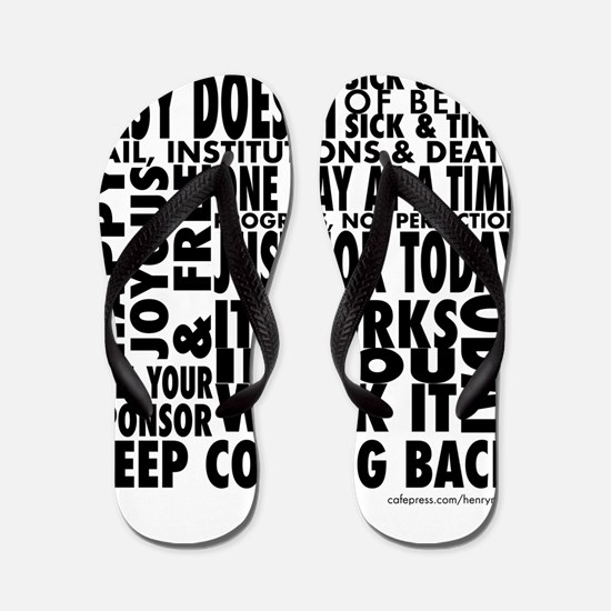 Recovery Slogans Flip Flops