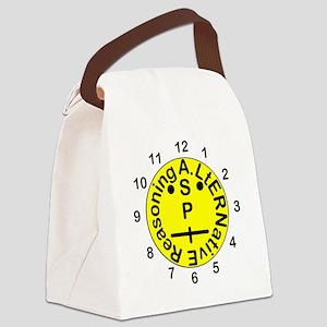 ASPIE Clock Face Canvas Lunch Bag
