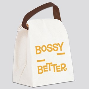 bossybetterdrk Canvas Lunch Bag