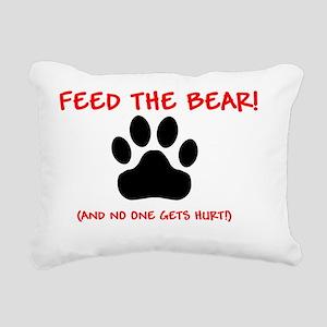 Feed-the-BEAR- Rectangular Canvas Pillow