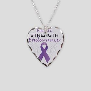 FaithStrengthEnduranceart Necklace Heart Charm