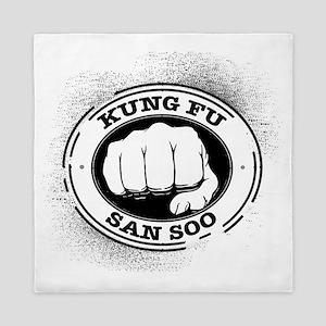 kung fu san soo 4 Queen Duvet