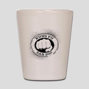 kung fu san soo 4 Shot Glass