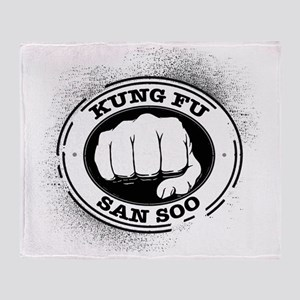 kung fu san soo 4 Throw Blanket