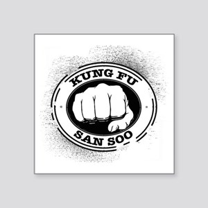 "kung fu san soo 4 Square Sticker 3"" x 3"""