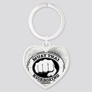 muay thai 3 Heart Keychain