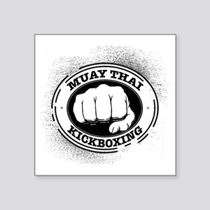 "muay thai 3 Square Sticker 3"" x 3"""