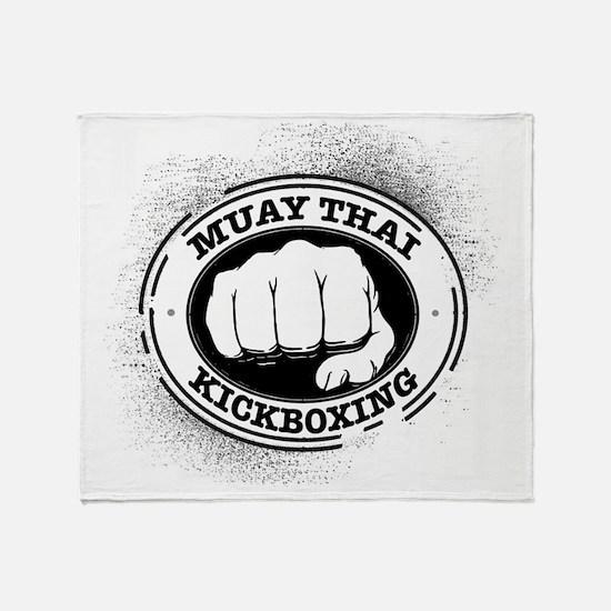muay thai 3 Throw Blanket
