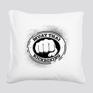 muay thai 3 Square Canvas Pillow