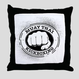 muay thai 3 Throw Pillow