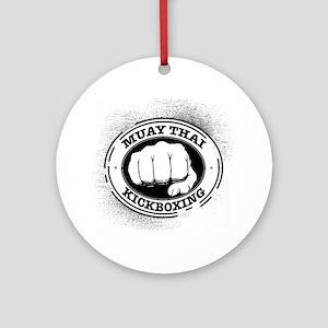 muay thai 3 Round Ornament