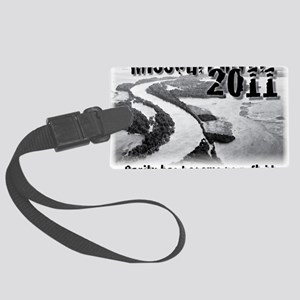 Missouri River 2011  Large Luggage Tag