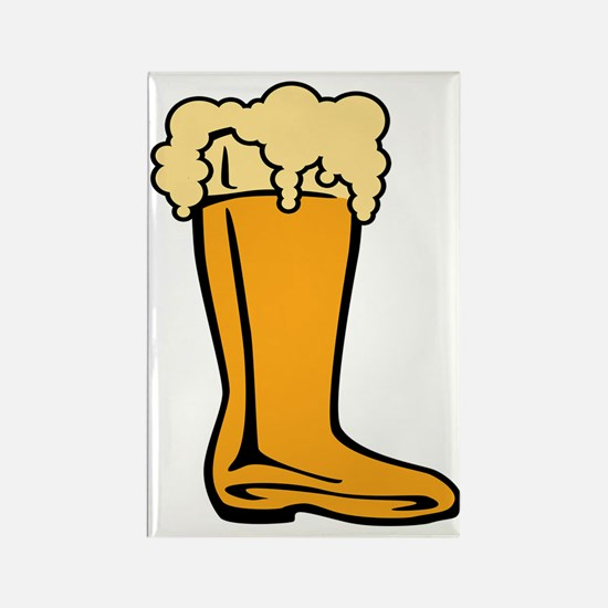 Beer Boot Rectangle Magnet