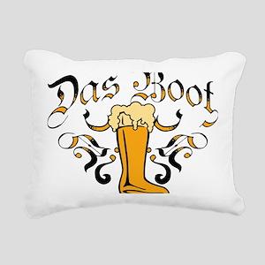 Das Boot Of Beer Rectangular Canvas Pillow