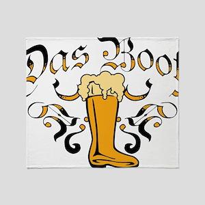 Das Boot Of Beer Throw Blanket