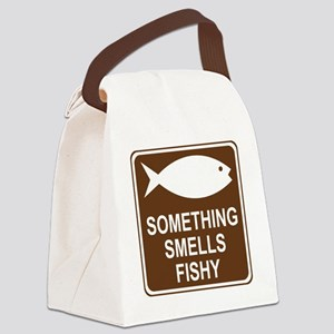 brown_fish_hatchery_oddsign1 Canvas Lunch Bag