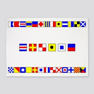 CRUISE-Signal-Flag 5'x7'Area Rug