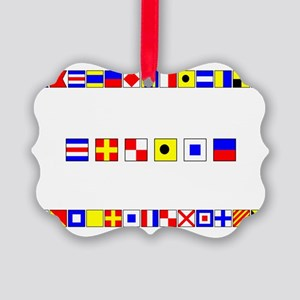 CRUISE-Signal-Flag Picture Ornament