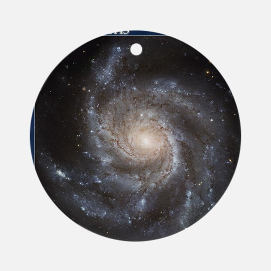 CD-TileBox-Spiral Galaxy M101 Round Ornament