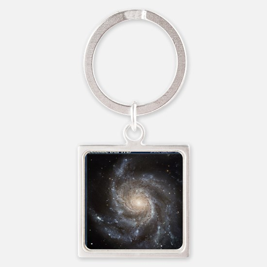 CD-TileBox-Spiral Galaxy M101 Square Keychain