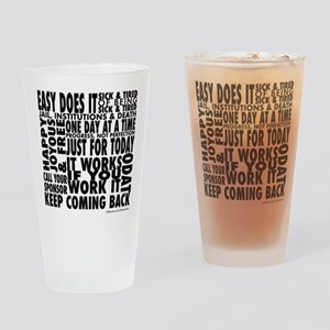 Recovery Slogans Drinking Glass