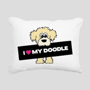 Love My Labradoodle Rectangular Canvas Pillow