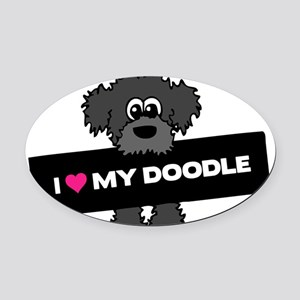 Love My Labradoodle Oval Car Magnet