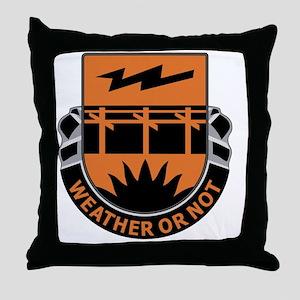 26th Signal Battalion Throw Pillow