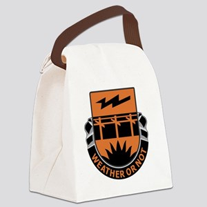 26th Signal Battalion Canvas Lunch Bag
