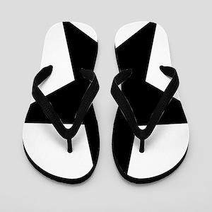 black-star-pentagram Flip Flops