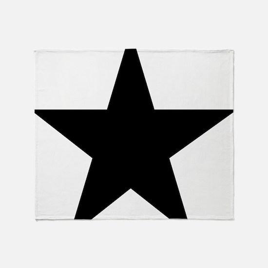 black-star-pentagram Throw Blanket