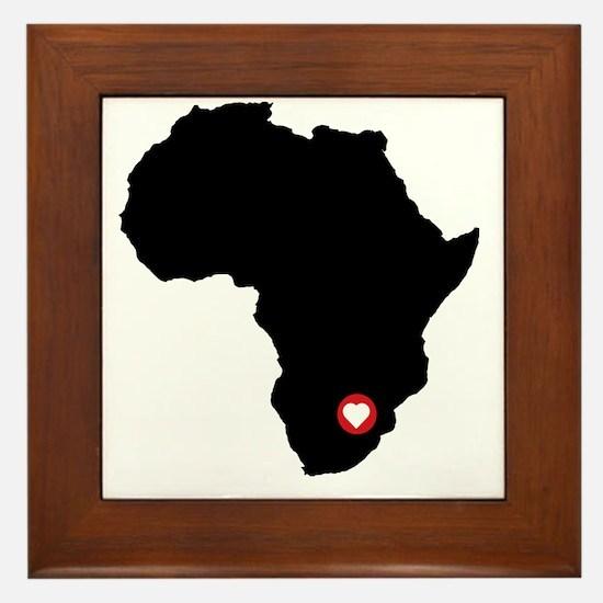 Africa red heart Framed Tile
