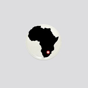 Africa red heart Mini Button